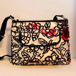 Coach daisey graffiti floral crossbody bag